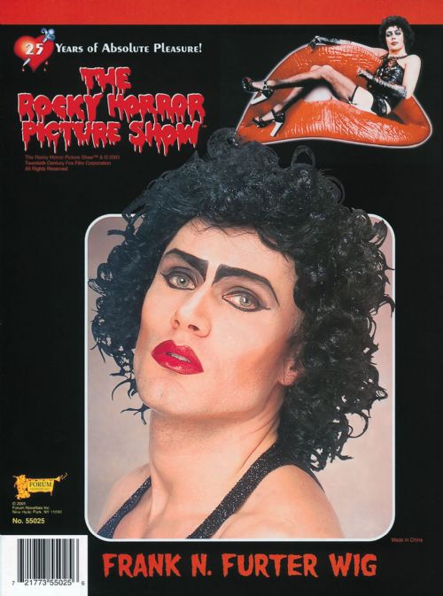 Adults Frank 'N' Furter Halloween Rocky Horror Wig Trick Or Treat Fancy Dress